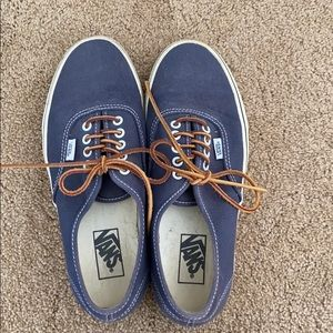 Blue/Gray Vans size 9 Men's, 10.5 Women's